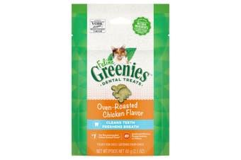Greenies Feline Dental Treats Oven Roasted Chicken Flavour 60g