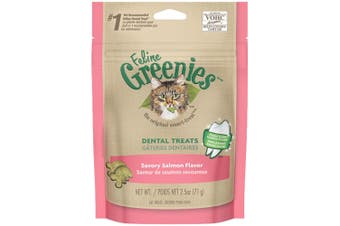 Greenies Feline Dental Treats Savory Salmon Flavour 71g