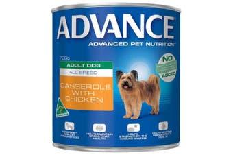 Advance Adult Dog Casserole with Chicken 12x700g