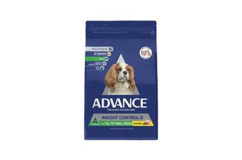 Advance Weight Control Small Breed Dog Food 2.5kg Chicken