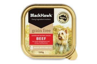 Black Hawk Grain Free Beef Dog Wet Food 9x100g
