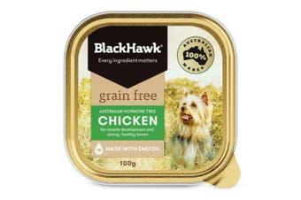 Black Hawk Grain Free Chicken Dog Wet Food 9x100g