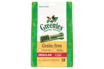 Greenies Dental Dog Treats Grain Free Regular 340g