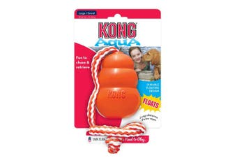 KONG Dog Toy Aqua with Rope Large