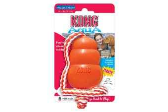 KONG Dog Toy Aqua with Rope Medium