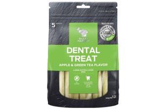 Billy & Margot Apple & Green Tea Large Dental Dog Treat 5 Pack
