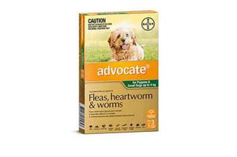 Advocate Dog Bayer 0-4KG Small Pack of 3 Green