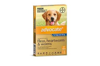 Advocate Dog Bayer Over 25KG Extra Large Pack of 3 Blue