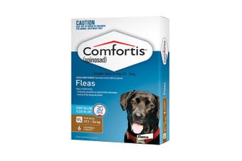 Comfortis Chewable Tablets for Dogs 27.1-54KG Pack of 6