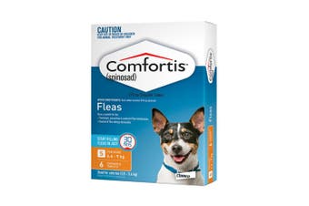Comfortis Chewable Tablets for Dogs 4.6-9KG Pack of 6