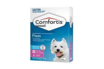 Comfortis Chewable Tablets for Dogs 2.3-4.5KG Pack of 6