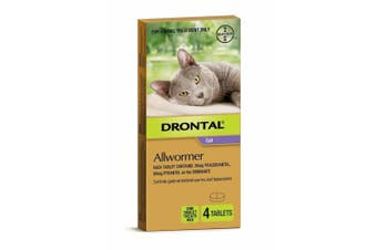 Drontal Ellipsoid Allwormer for Cats and Kittens up to 4KG 4 Tablets