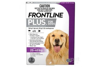 Frontline Plus Dog 20-40KG Large Pack of 3 Purple