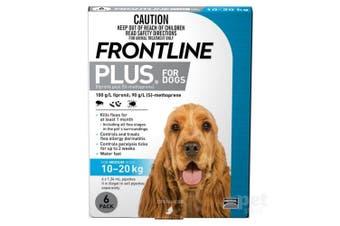 Frontline Plus Dog 10-20KG Medium Pack of 6 Blue