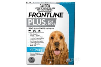 Frontline Plus Dog 10-20KG Medium Pack of 6 Blue