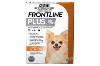 Frontline Plus Dog 0-10KG Small Pack of 3 Orange