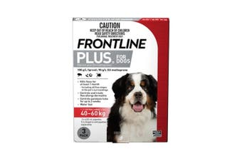 Frontline Plus Dog 40-60KG Extra Large Pack of 3 Red