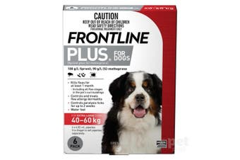 Frontline Plus Dog 40-60KG Extra Large Pack of 6 Red