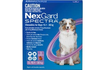 Nexgard Spectra Purple For Large Dogs 15.1-30kg 3 Pack