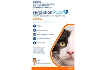 Revolution Plus for Cats 2.5 - 5kg  Medium Orange 6 Pack