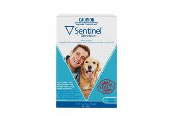 Sentinel Spectrum Tasty Chews Large Dog 22 to 45kg -Pack of 6