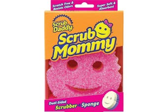 Scrub Mommy 2 in 1 Versatile Cleaning Sponge Pink