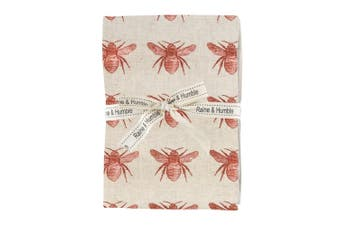 Raine & Humble Abby Bee Recycled Cotton 4 Piece Napkin Set Terracotta