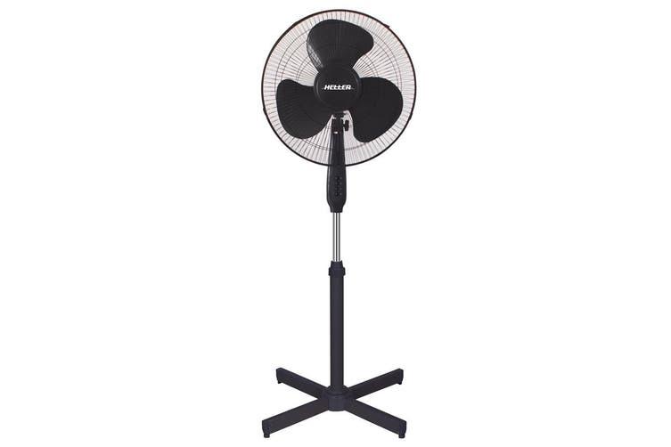 Heller 40cm Basic Pedestal Fan Black