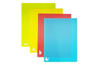 Scullery Essentials Flexible Colour Coded Cutting Mat Set of 4