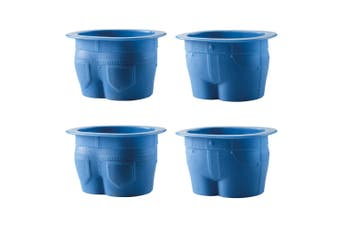 Scullery Novelty Silicone 4 Piece Muffin Tops Baking Cup Set