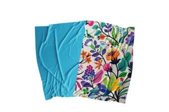 Ambrosia Aster Cotton 2 Piece Tea Towel Set 67.5 x 47.5cm Floral