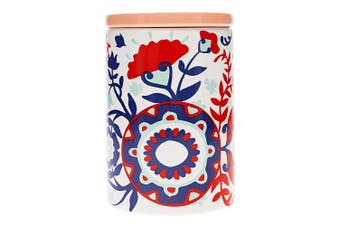 Ambrosia Aya Dolomite Canister 15cm Floral