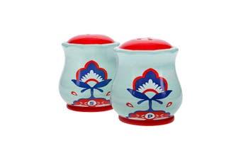 Ambrosia Aya Ceramic Salt & Pepper Shaker Set 8 x 7.5cm Floral