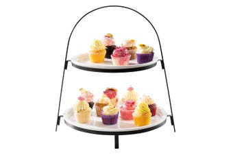 Ambrosia Zest New Bone China 2 Tier Round Cake Stand
