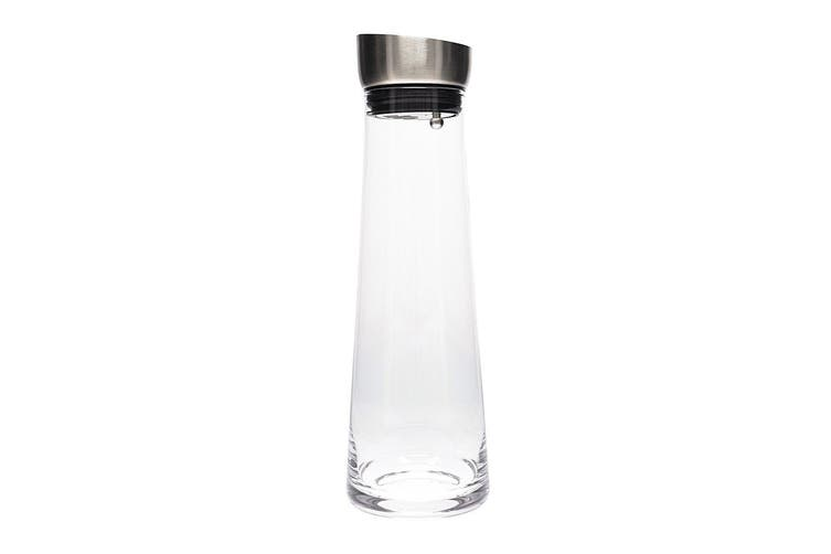 Cellar Premium Glass & Stainless Steel Water Carafe 1L Clear