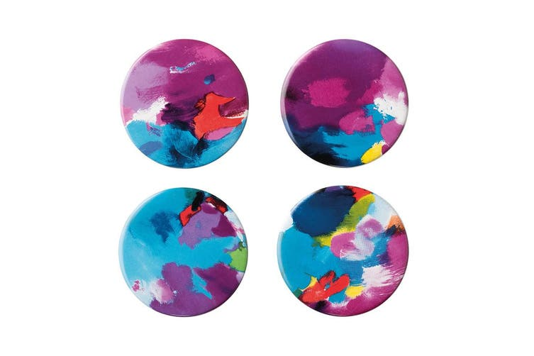 Ambrosia Aster by Camilla Cicoria 4 Piece Coasters Set