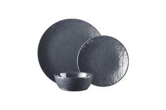Ambrosia Mila 12 Piece Stoneware Dinner Set Grey