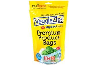 Bluapple VeggieZips Hydroliners 10 Pack