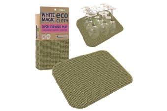 White Magic Dish Drying Mat Pebble