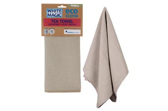White Magic Tea Towel Pebble