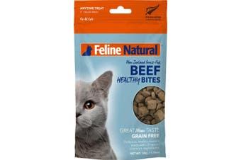 Feline Natural Beef Healthy Bites Cat Treat 50g