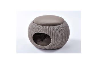 Curver Cozy Pet Home Dog Bed Beige