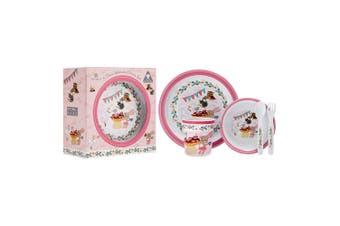 Ashdene Tea Party 5 Piece Children's Dinner Set Melamine Dishwasher Safe