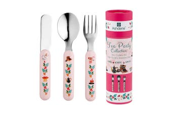 Ashdene Tea Party 3 Piece Cutlery Set Stainless Steel Childrens Dishwasher Safe