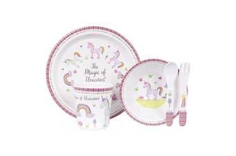 Ashdene Unicorn Magic 5 Piece Kids Dinner Set
