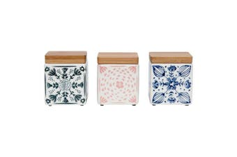 Ladelle Dwell Mini Stoneware Canister Set of 3 Multicolour