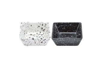 Ladelle Terrazzo Assorted Black/White Square Bowl