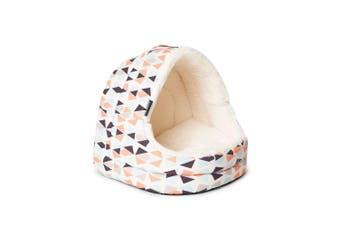 La Doggie Vita Geo Hooded Cat Bed