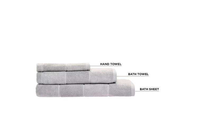 Linen House Velour Stripe Bath Sheet Silver