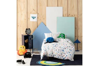 Hiccups Little Monsters Multicolour Quilt Cover Set Single Bed